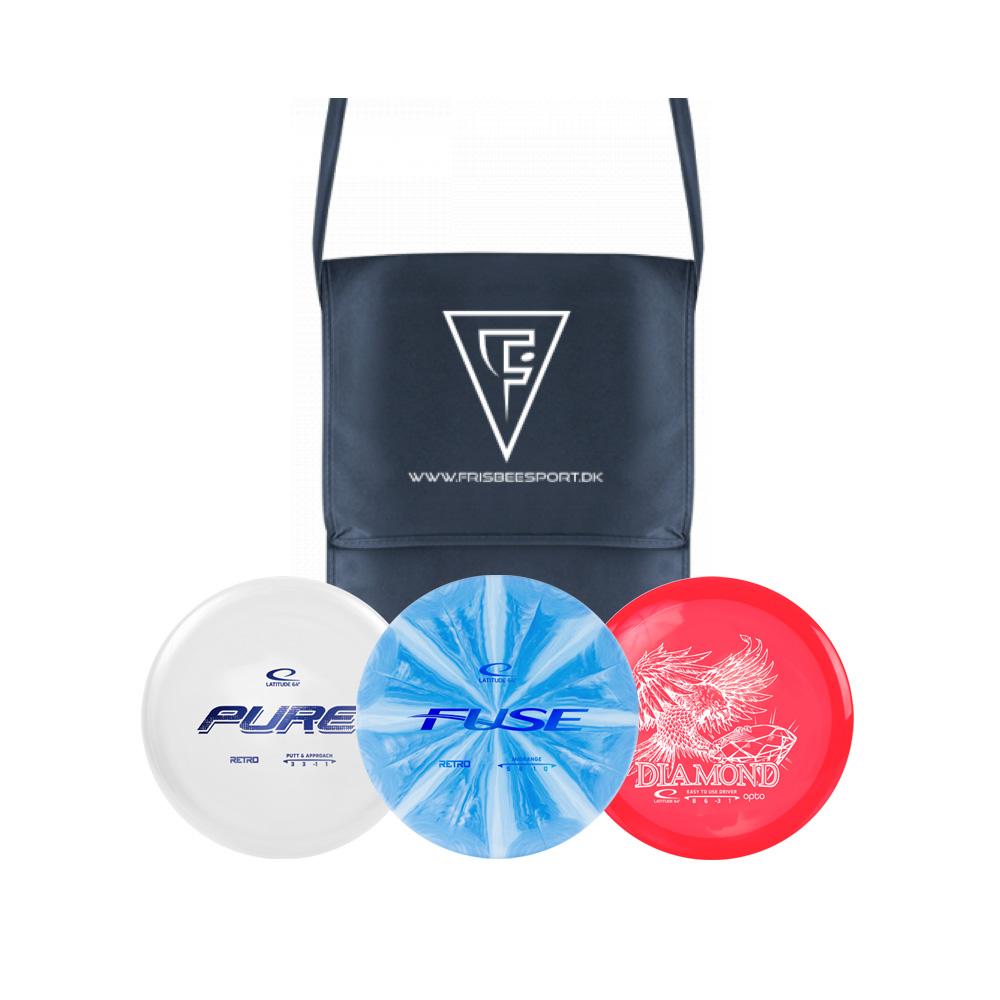 FrisbeeSport Disc Golf Startersæt inkl. skuldertaske