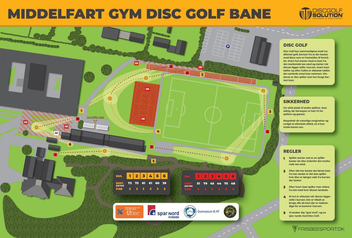 Middelfart Gym Disc Golf Bane