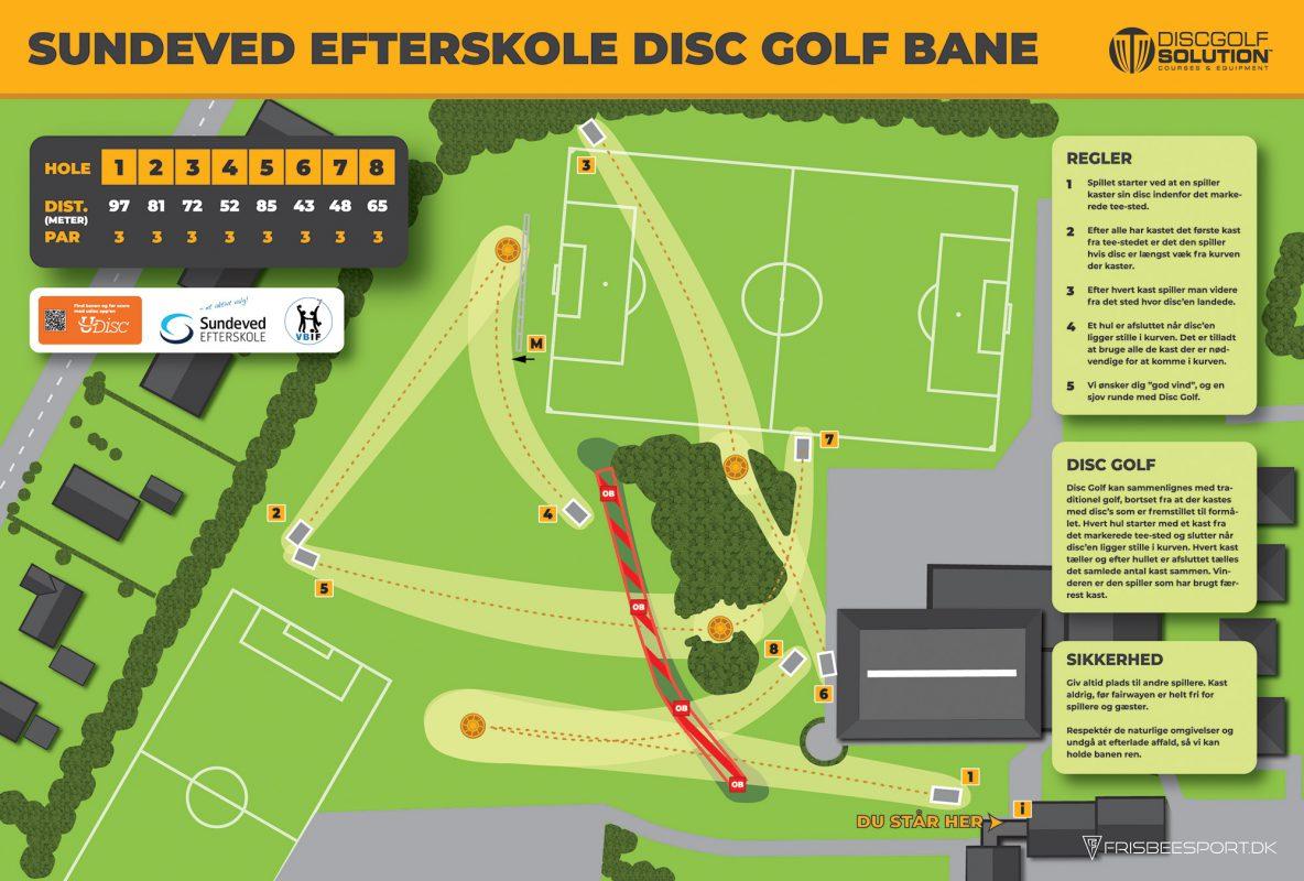 Sundeved Efterskole Disc Golf Bane